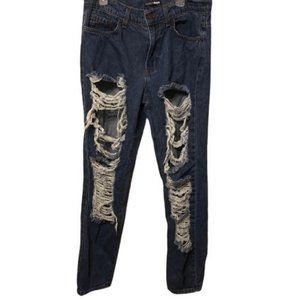 Fashion Nova disressed jeans